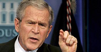 Bush: Hinter mir die Sintflut