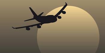 Mann sprang aus Flugzeug