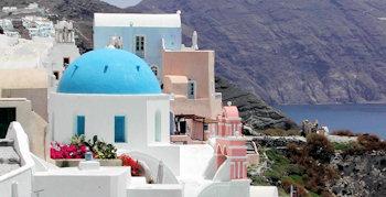 Santorin-Insel der Romantik