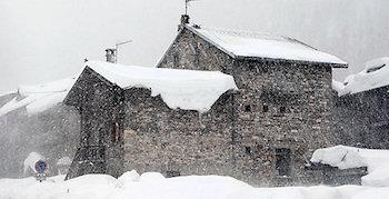 Schneesturm in Val d'Isere