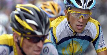 Rinaldo Nocentini im Gelben Trikot